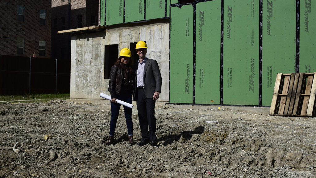 Cindy McCarty & Steve Benckenstein - Dallas Developer Construction Photo